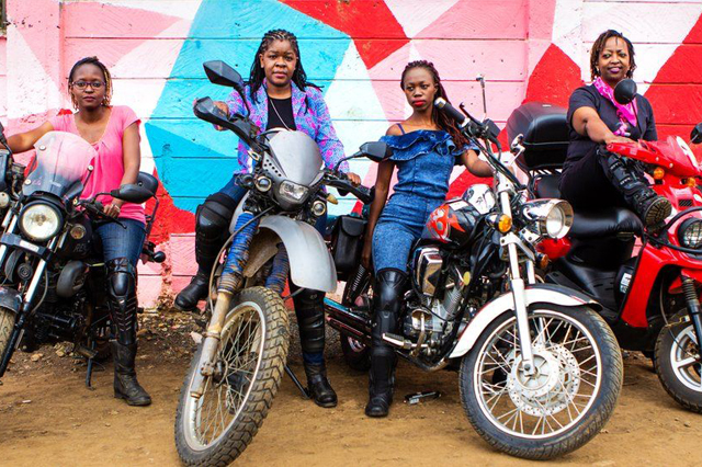 Four members of the Inked Sisterhood in Nairobi. Photo by Katie Cashmann, courtesy of BBC.